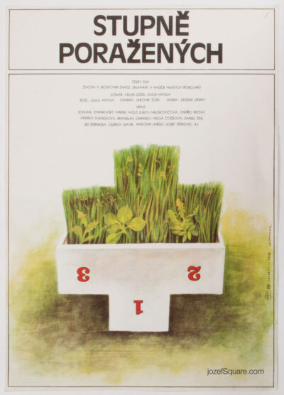 Movie Poster, Podiums of Defeated, Jan Tomanek, 80s Cinema Art