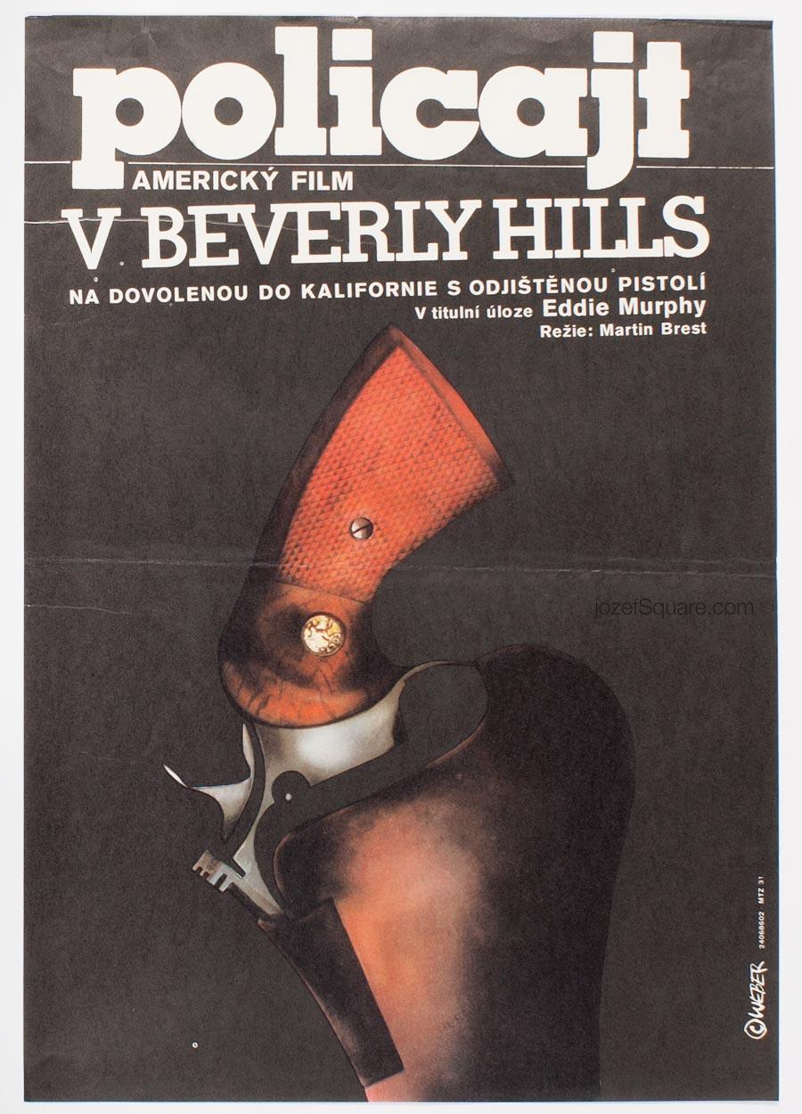 Movie Poster, Beverly Hills Cop, Eddie Murphy, 80s Cinema Art
