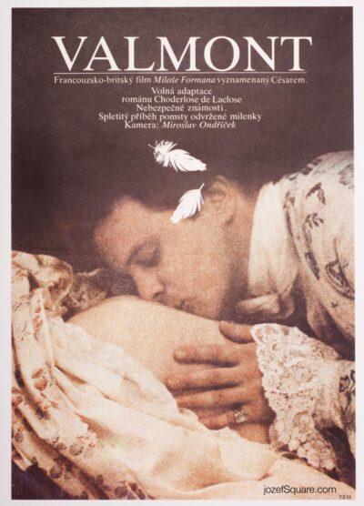 Movie Poster, Valmont, Milos Forman, Jan Weber, 80s Cinema Art