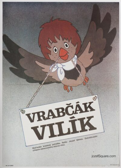 Children's Movie Poster, Willy the Sparrow, Jichova
