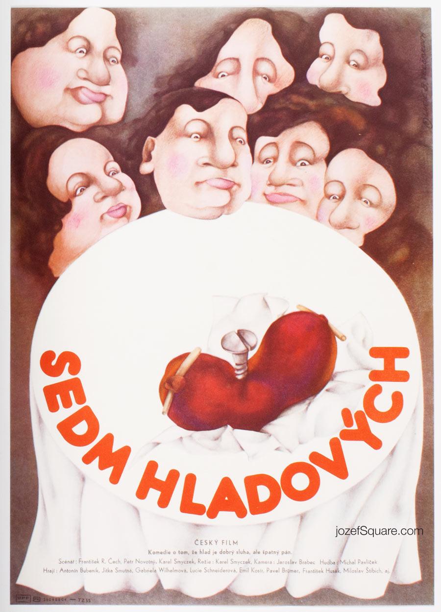 Movie Poster, Hungry Seven, Lucie Vercakova, 80s Cinema Art