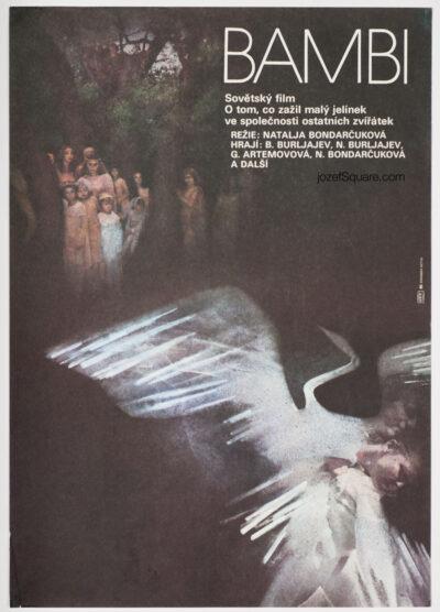 Children's Movie Poster - Bambi's Childhood, Marie Kovarikova