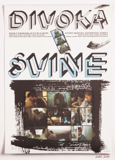 Movie Poster, Wild Boar, Pavel Svab, 90s Cinema Art
