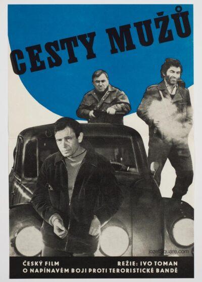 Movie Poster, Roads of Men, Stanislava Pokorna, 70s Cinema Art