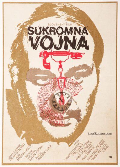 Minimalist Movie Poster, Private War, Urbanova, 70s Cinema Art