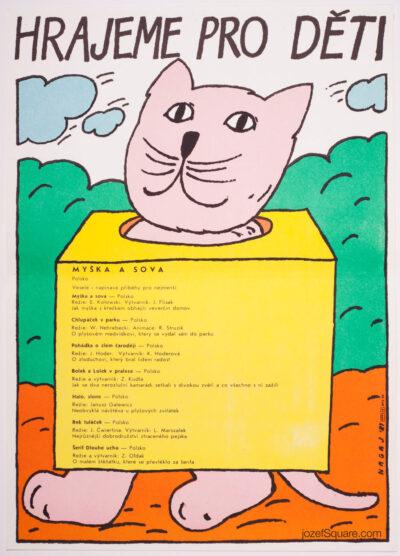 Children's Movie Poster, Little Mouse and Owl, Vladimir Nagaj
