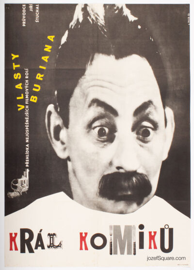 Movie Poster, King of Comedians, Zdenek Palcr, 60s Cinema Art