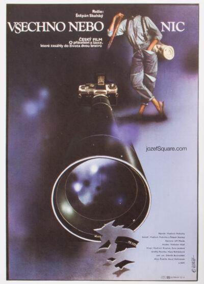 Movie Poster, All or Nothing, Zdeněk Vlach, 80s Cinema Art