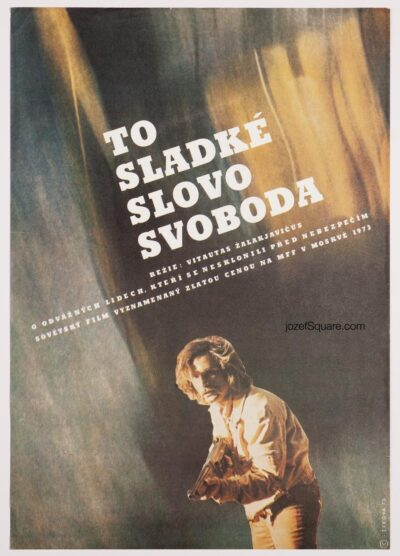 Movie Poster, That Sweet Word, Liberty!, Libuse Zikova, 70s Cinema Art