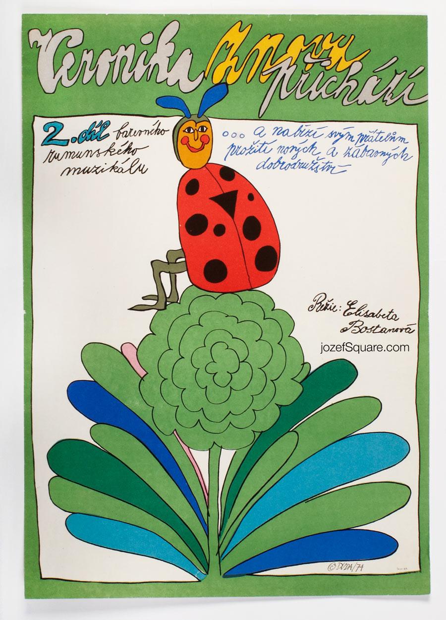 Movie Poster - Return of Veronica, Stanislav Duda, 70s Cinema Art