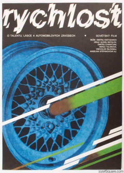 Movie Poster, Speed, Vratislav Sevcik, 80s Cinema Art