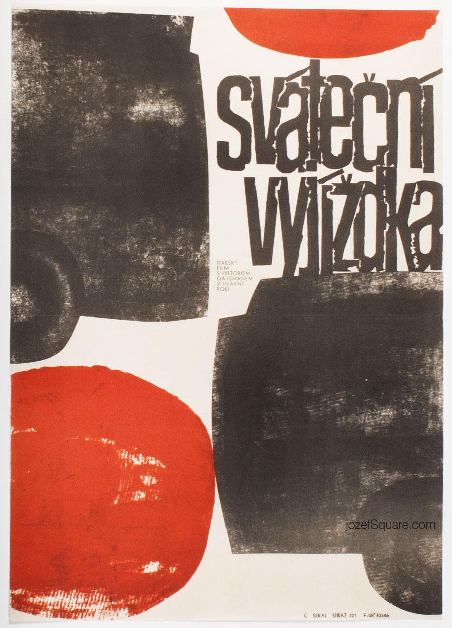Movie Poster, Easy Life, Zbynek Sekal, 60s Cinema Art