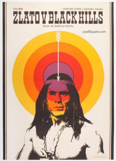 Western Movie Poster, Trail of the Falcon, Alexej Jaros, 60s Cinema Art