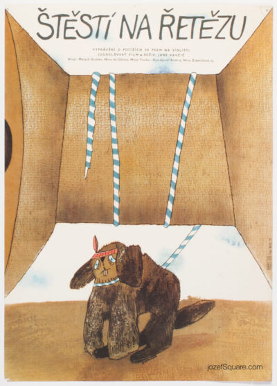 Movie Poster, Hang on, Doggy!, Eliska Konopiska, 70s Cinema Art
