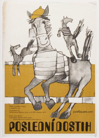 Movie Poster, Last Race, Eliska Konopiska, 80s Cinema Art