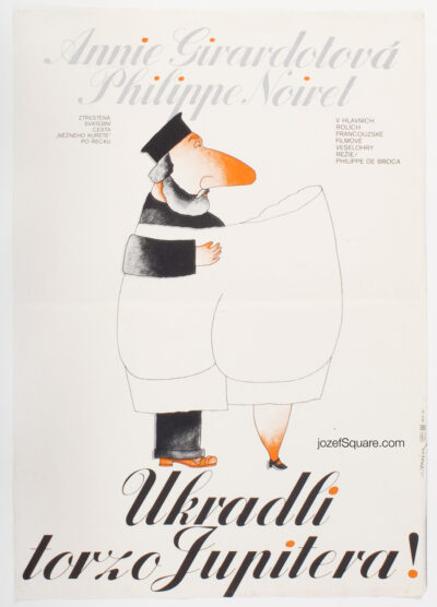 Movie Poster, Jupiter's Thigh, Jan Tomanek, 80s Cinema Art