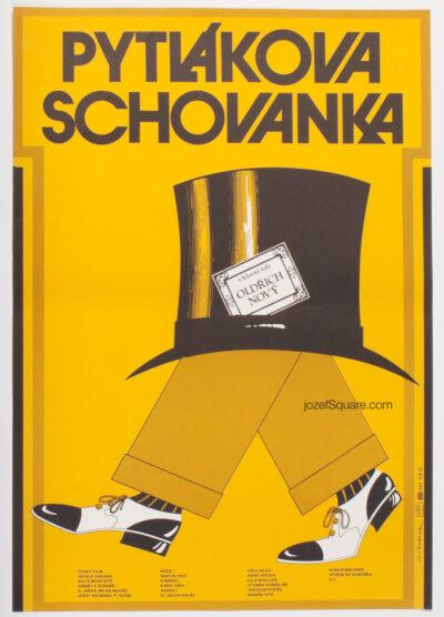 Movie Poster, Poacher's Foster Daughter, Jan Tomanek, 70s Cinema Art