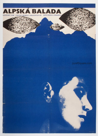 Minimalist Movie Poster, Alpine Ballad, Karel Vaca, 60s Cinema Art