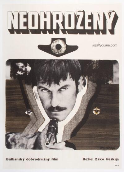Movie Poster, The Eighth, Stanislav Vajce, 70s Cinema Art