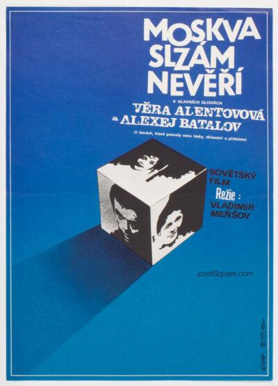 Minimalist Movie Poster, Moscow Does Not Believe in Tears 2, Zdenek Vlach, 80s Cinema Art