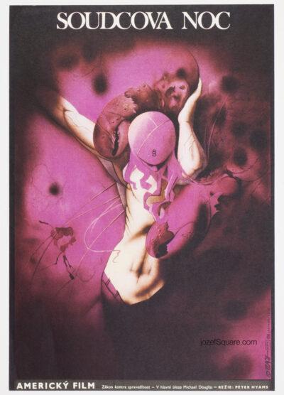 Surreal Movie Poster, Star Chamber, Zdenek Vlach, 80s Cinema Art