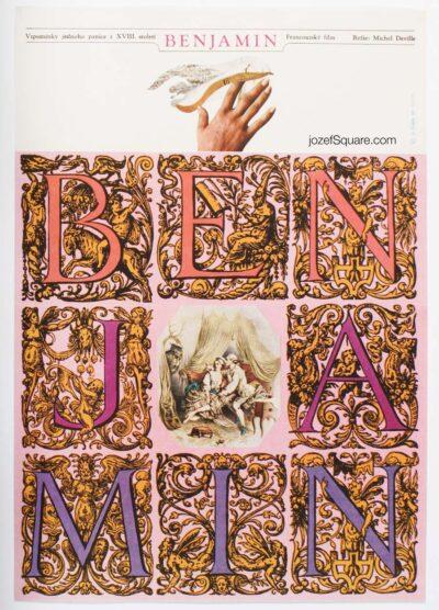 Movie Poster, Benjamin, Zdenek Ziegler, 60s Cinema Art