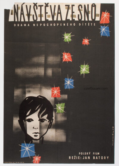 Children's Movie Poster, Visit of a President, Frantisek Riha, 60s Cinema Art