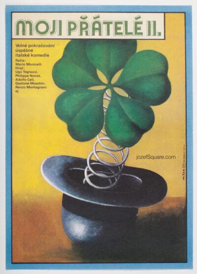 Movie Poster, All My Friends II, Karel Misek, 80s Cinema Art