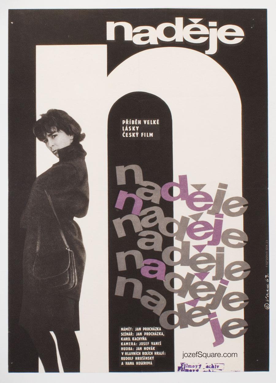 Movie Poster, Hope, Karel Vaca, 60s Cinema Art