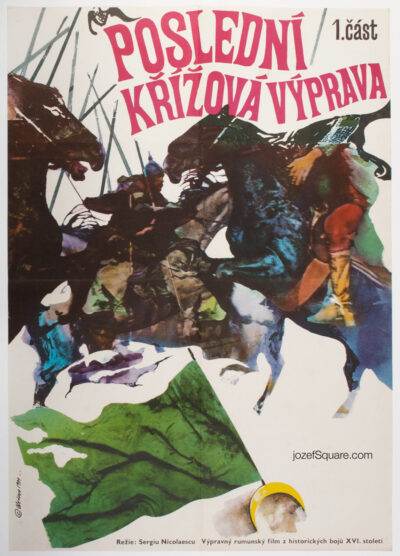 Movie Poster, Last Crusade, Miroslav Hrdina, 70s Cinema Art