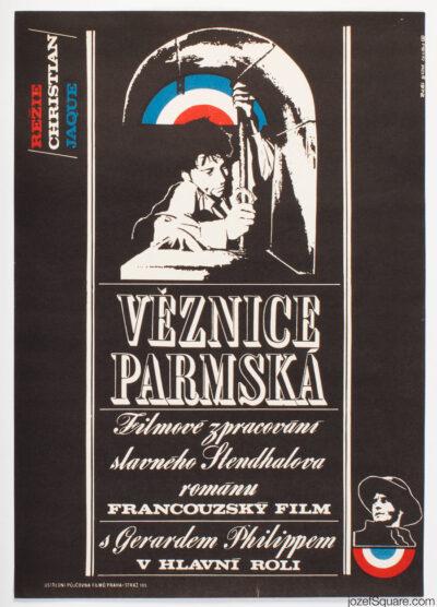 Movie Poster, Charterhouse of Parma, Petr Pos, 70s Cinema Art