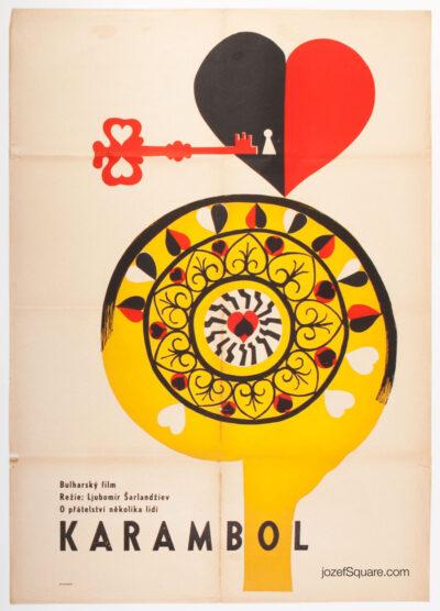 Movie Poster, Karambol, Unknown Artist, 60s Cinema Art