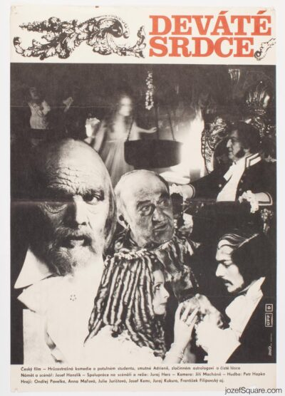 Movie Poster, The Ninth Heart, Unknown Artist, 70s Cinema Art