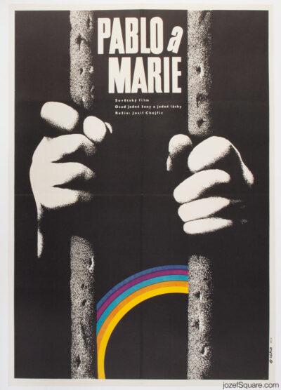 Movie Poster, Hail, Mary, Zdenek Vlach, 70s Cinema Art